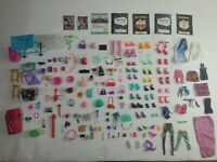 Monster High Dolls Huge Lot Of Accessories Shoes Purses Clothing Table Etc.