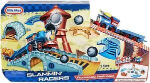 Little Tikes - RUNAWAY RAILROAD - Slammin' Racers - TRAIN SET - NEW