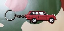 Landrover Range Rover Classic 3dr Collectors Key Ring - RED