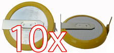10 X CR2032 3V Batterie Super Nintendo N64 SNES Sega MegaDrive Lötfahnen