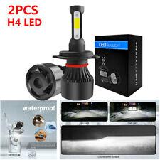2PCS H4 LED Car SUV's Headlight Conversion Kit COB Bulbs White Power 6000K Lamp