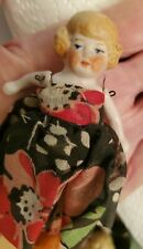 """Antique German Miniature Dollhouse Bisque 2.75"""" Baby Girl Doll numbered Germany"""