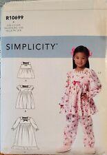 Simplicity pattern R10699 Girls' Top, Dress, Gown, Pants size 3 - 8 uncut