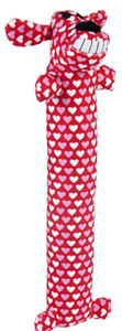 """Multipet Valentine's Heart Loofa 12"""" dog toy Valentines Day Hearts"""