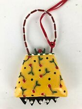 Mary Englebreit Purse Christmas Ornament Yellow Cherries