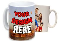 Personalized Coffee Mug Custom Photo Text Logo Name Printed Gift Ceramic Cup