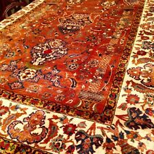 Antique 100% Silk Turkish Rug Hand Knotted Antolian Carpet 4'3X7'2