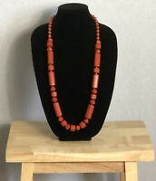 Vintage Necklace Chunky Beaded Graduated Statement Necklace Power Dressing Retro
