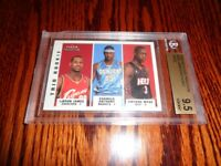 2003 Fleer Tradition LeBron James Dwayne Wade Anthony ROOKIE BGS 9.5 W/10
