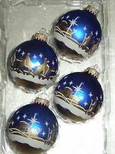 Boules Boule neige étoile blanc 10 cm handdekoriert cancer VERRE LAUSCHA