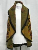 Waterfall Waist Jacket Coat New women Lagenlook Plus Boiled Wool Mix Flower