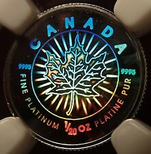 Rare 2002 Canada Platinum Maple Leaf Hologram NGC SP70 Only 500 Minted!