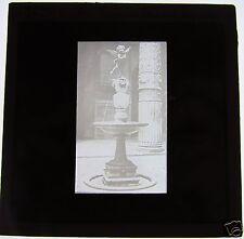Glass Magic lantern slide FLORENCE VERROCCHIO FOUNTAIN C1910 ITALY FIRENZE