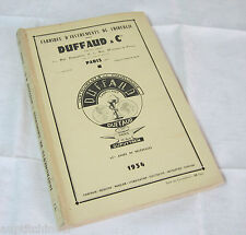 Ancien catalogue instruments médecine chirurgie Duffaud & Cie 1934