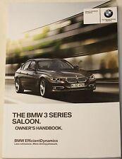 GENUINE BMW 3 SERIES F30 2012-2017 SALOON GENUINE HANDBOOK OWNERS MANUAL