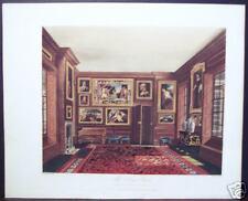 """W. H. Pyne: """"The King's Closet, Kensington Palace"""" 1819"""