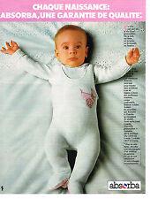 PUBLICITE ADVERTISING 044   1977   ABSORBA   layette vetements naissance