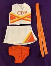 Doll Clothes American Girl Doll White & Orange Cheerleading or Tennis Outfit