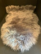 2 X 3 Pottery Barn GRAY Single-Pelt 100% Sheepskin RUG Bedroom Kids Teen NEW