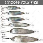 Fishing Spoons Silver Chrome Fish Jigs Casting Lures 1oz 2oz 3oz 5oz 7oz 9oz lot