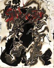 "Beautiful ""Sin City"", Abstract Art Original Canvas Painting."