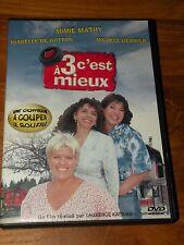 DVD  A 3 C' EST MIEUX  mimie mathy  michele bernier  langue française