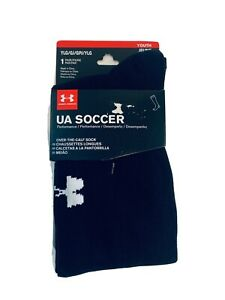 Under Armour 1 Pair Youth UA Soccer Socks YLG Black Youth Large NWT UA