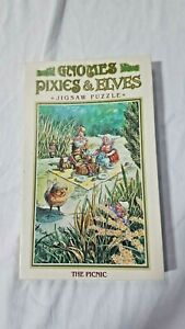Gnomes Pixies And Elves The Picnic Jigsaw Puzzle J Ewers 1978 Vintage 70s VTG