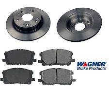 Rear Ceramic Brake Pad Set & Rotor Kit for 2014 Honda Civic 4W DISC-EX-EX L-SI