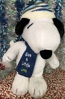 """Peanuts Snoopy Plush Porch Greeter """"Give A Little Love"""" Large Holiday"""