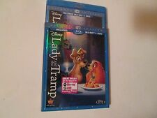 Lady and the Tramp (Blu-ray/DVD,2012,Diamond Edition) New Slipcover Disney OOP