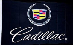 Cadillac Black Premium Logo Flag 3' x 5' Automotive Banner (USA Seller)