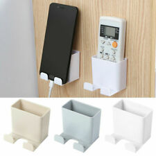 1PC Wall Mounted Organizer Remote Control Phone Plug Holder Stand Storage Case