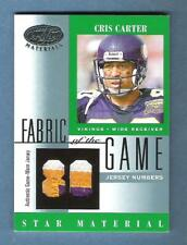 2001 CRIS CARTER Leaf Certified Fabric of the Game Jersey Patch #25/80 READ