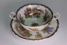 Aynsley China Garden Gate Cream Soup and Under Plate