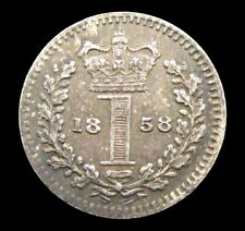 More details for victoria 1858 silver maundy penny - ef