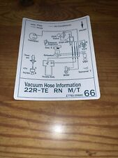1986 22rte Toyota Pickup Truck Turbo Vacuum Diagram Decal Repro #66