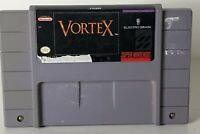 Super Nintendo SNES Vortex Authentic Video Game Cartridge