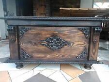 Massive handgemachte Holzkiste Truhe Box Holz Aufbewahrung Antik Dekoration/MDL1