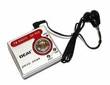 portátil radio de bolsillo radio AM FM con pilas Para Trabajo Viaje Rojo