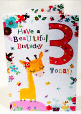 3rd Birthday Card For A Girl - 8.25 x 5.5 Inches - Cherry Orchard