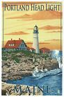 Portland Head Light Maine, Historic Lighthouse Cape Elizabeth -- Modern Postcard