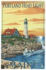 Portland Head Light Maine, Historic Lighthouse Cape Elizabeth -- Modern Postcard