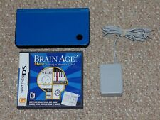 Midnight Blue Nintendo DSi XL Console with Brain Age 2 Tested & Working