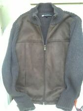 Lady Hathaway women's faux suede/wool jacket, chocolate brown, size M