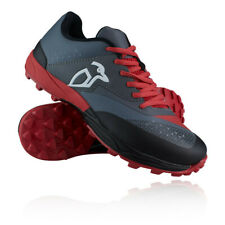 Kookaburra Mens Xenon Hockey Shoes Pitch Field - Black Red Sports Breathable