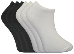 Ladies Plain White Trainer Liner Sock Summer Ankle Socks Bulk Lot Deal Size 4-6