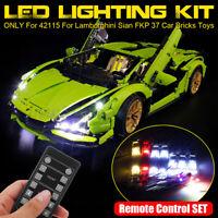 USB LED Light Remote Control Kit For LEGO 42115 For Lamborghini Sian FKP 37
