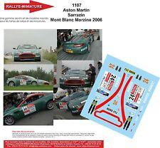 DECALS 1/43 REF 1107 ASTON MARTIN VANTAGE SARRAZIN RALLYE MONT BLANC 2006 RALLY