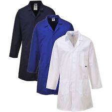 Portwest C852 navy,royal blue or white standard polycotton lab warehouse coat